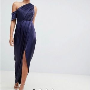 Hammered Satin Wrap Dress from ASOS